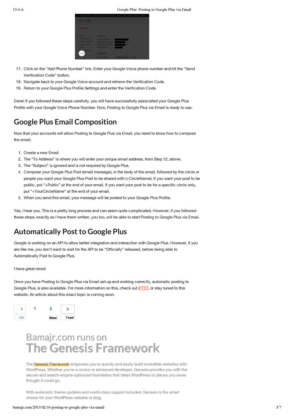 13-6-6 Google Plus: Posting to Google Plus via ...