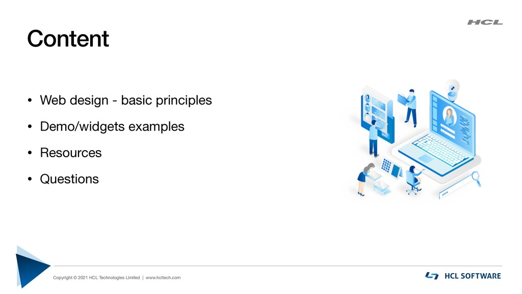 Content • Web design - basic principles  • Demo...