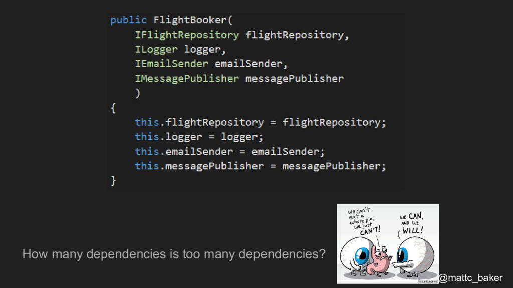 How many dependencies is too many dependencies?...