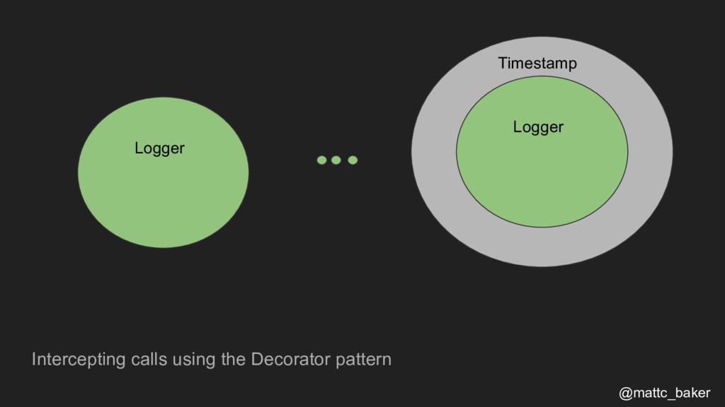 Intercepting calls using the Decorator pattern ...