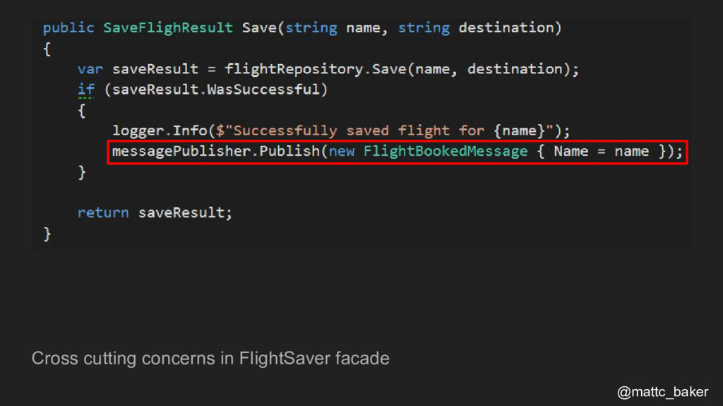 Cross cutting concerns in FlightSaver facade @m...