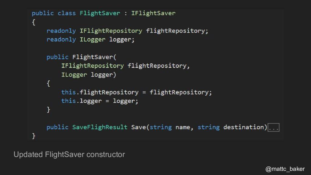 Updated FlightSaver constructor @mattc_baker
