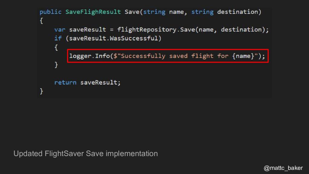Updated FlightSaver Save implementation @mattc_...