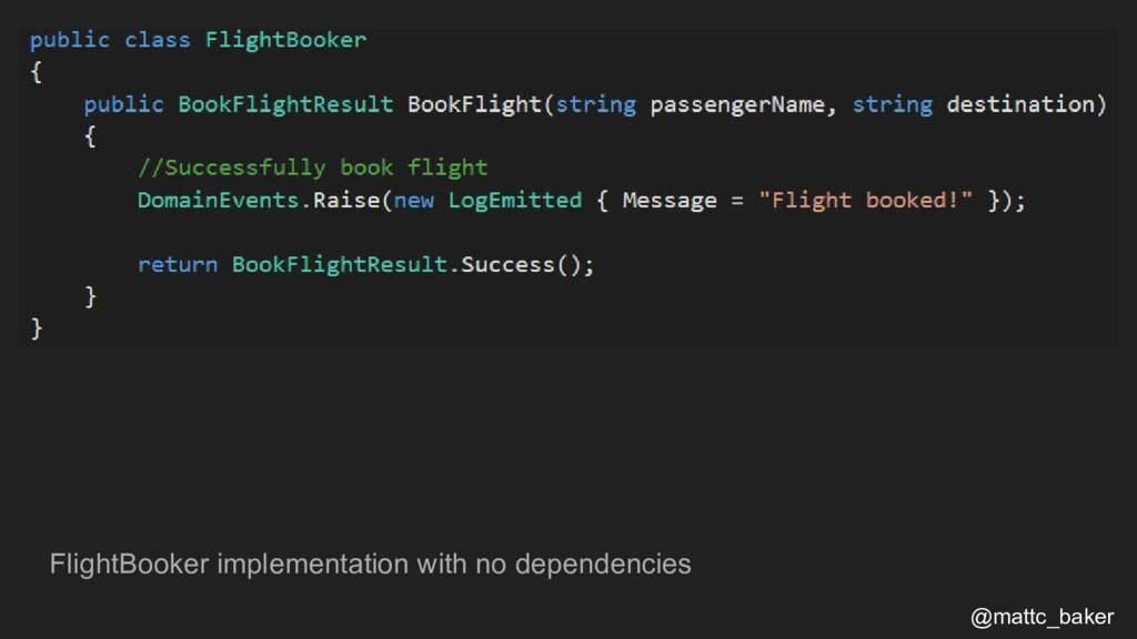 FlightBooker implementation with no dependencie...