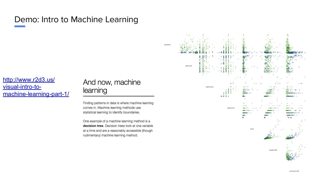 Demo: Intro to Machine Learning http://www.r2d3...