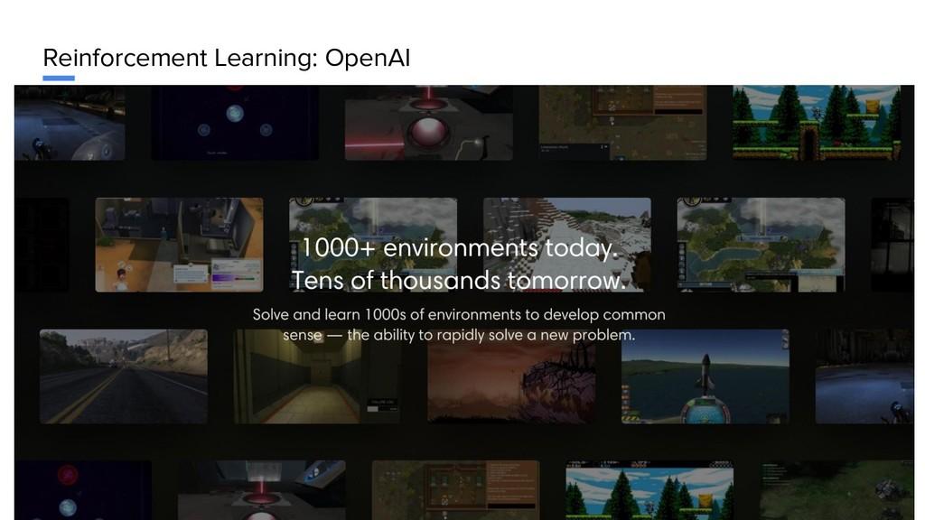 Reinforcement Learning: OpenAI