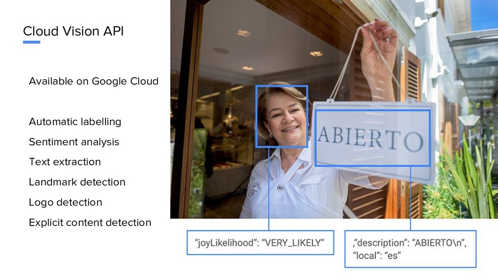 Cloud Vision API Available on Google Cloud Auto...