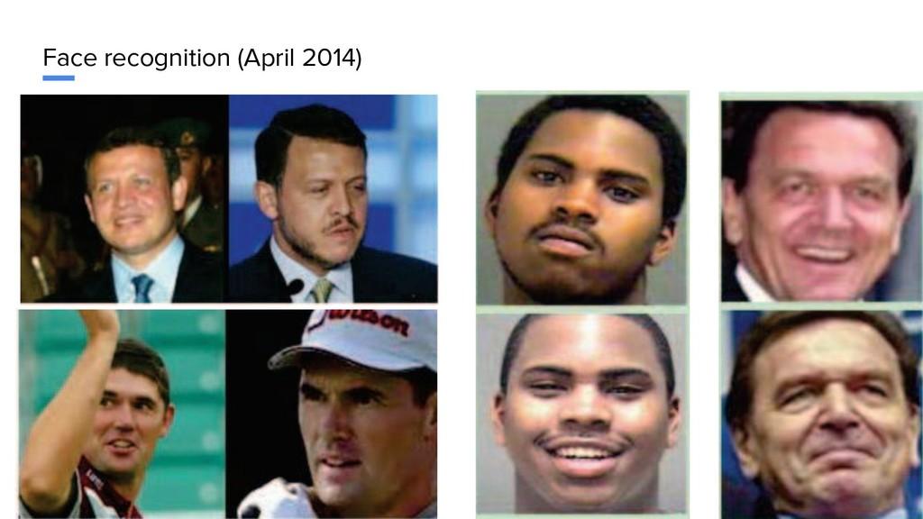 Face recognition (April 2014)