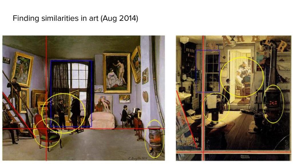 Finding similarities in art (Aug 2014)