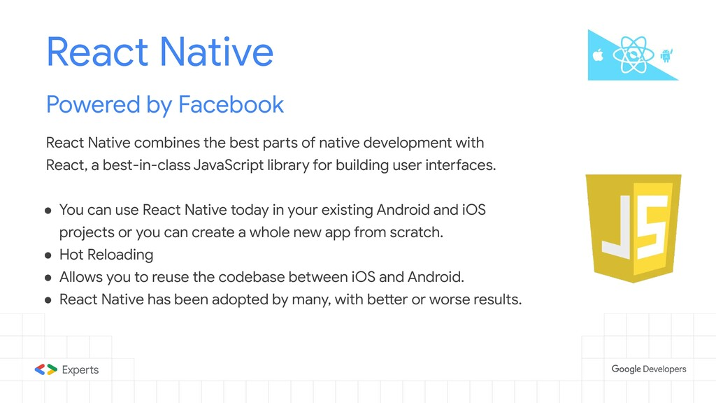 React Native Powered by Facebook React Native c...