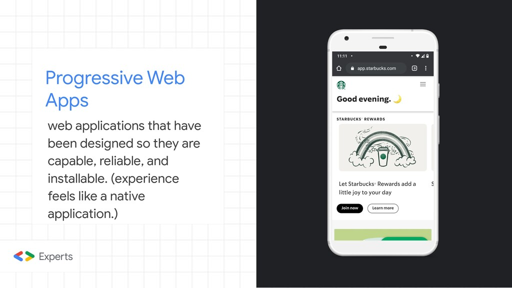 Progressive Web Apps web applications that have...