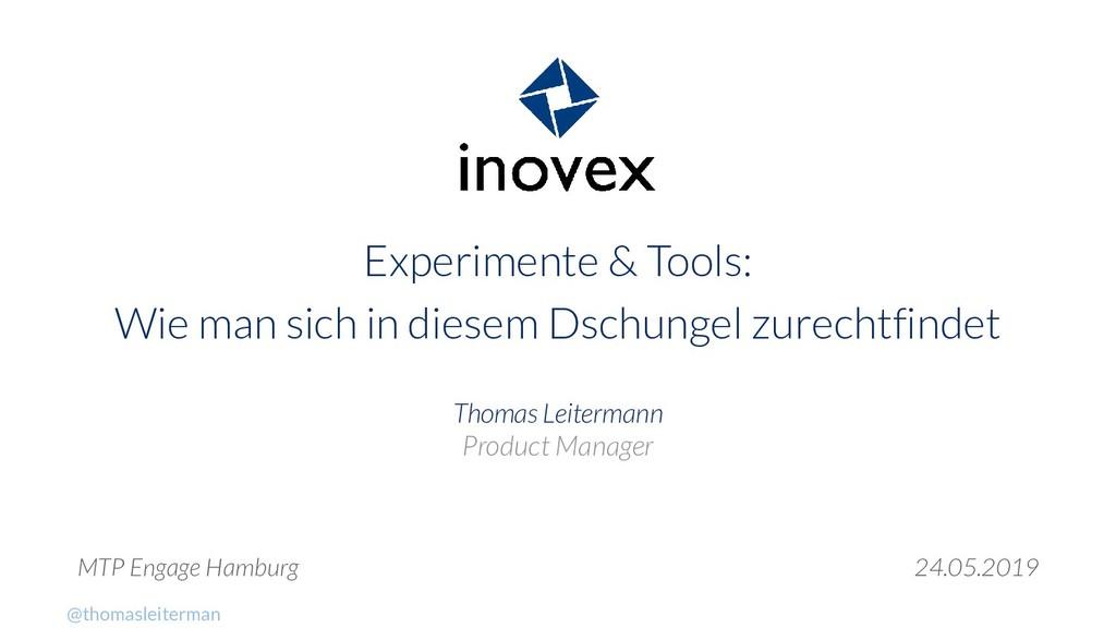 Experimente & Tools: Wie man sich in diesem Dsc...