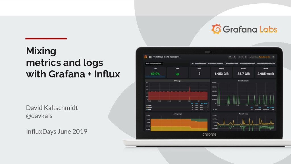 Mixing metrics and logs with Grafana + Influx Da...