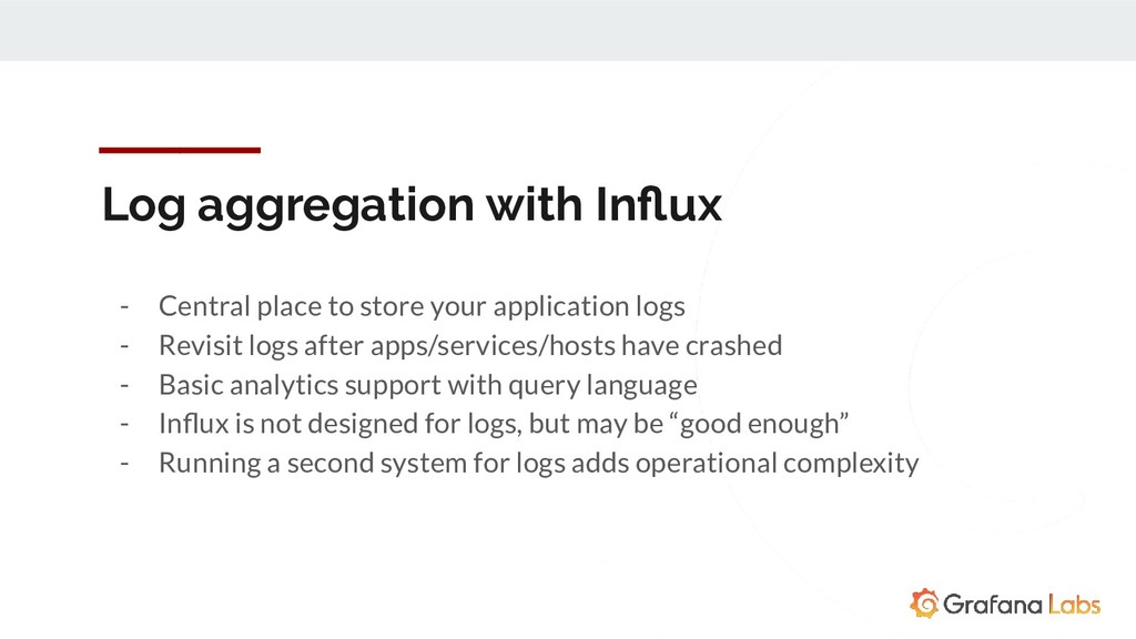 Log aggregation with Influx - Central place to s...