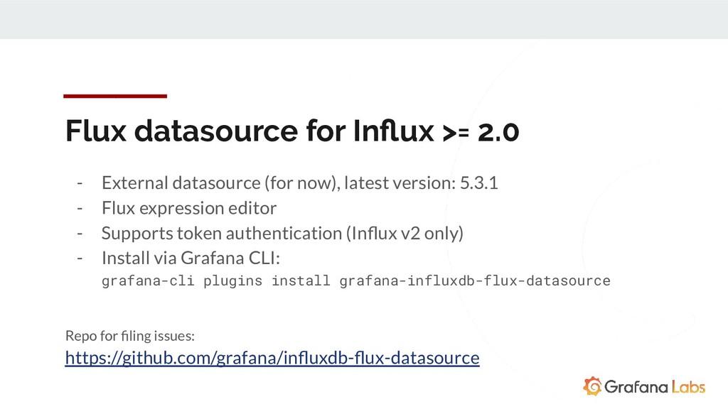 Flux datasource for Influx >= 2.0 - External dat...