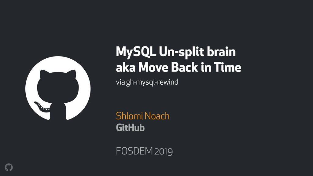 MySQL Un-split brain