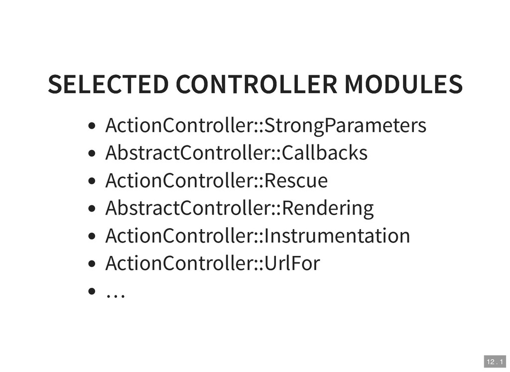 SELECTED CONTROLLER MODULES SELECTED CONTROLLER...