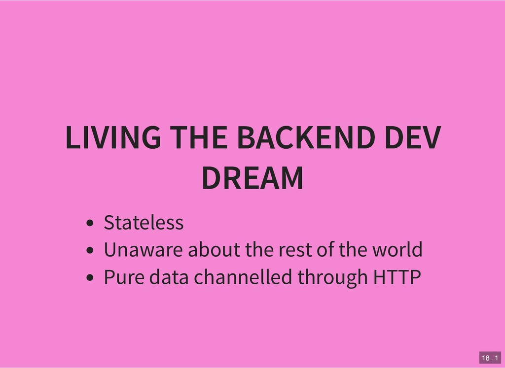 LIVING THE BACKEND DEV LIVING THE BACKEND DEV D...