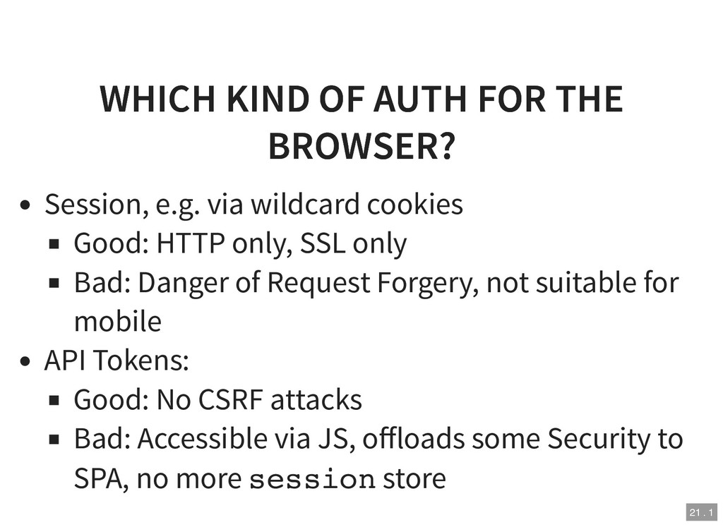 WHICH KIND OF AUTH FOR THE WHICH KIND OF AUTH F...