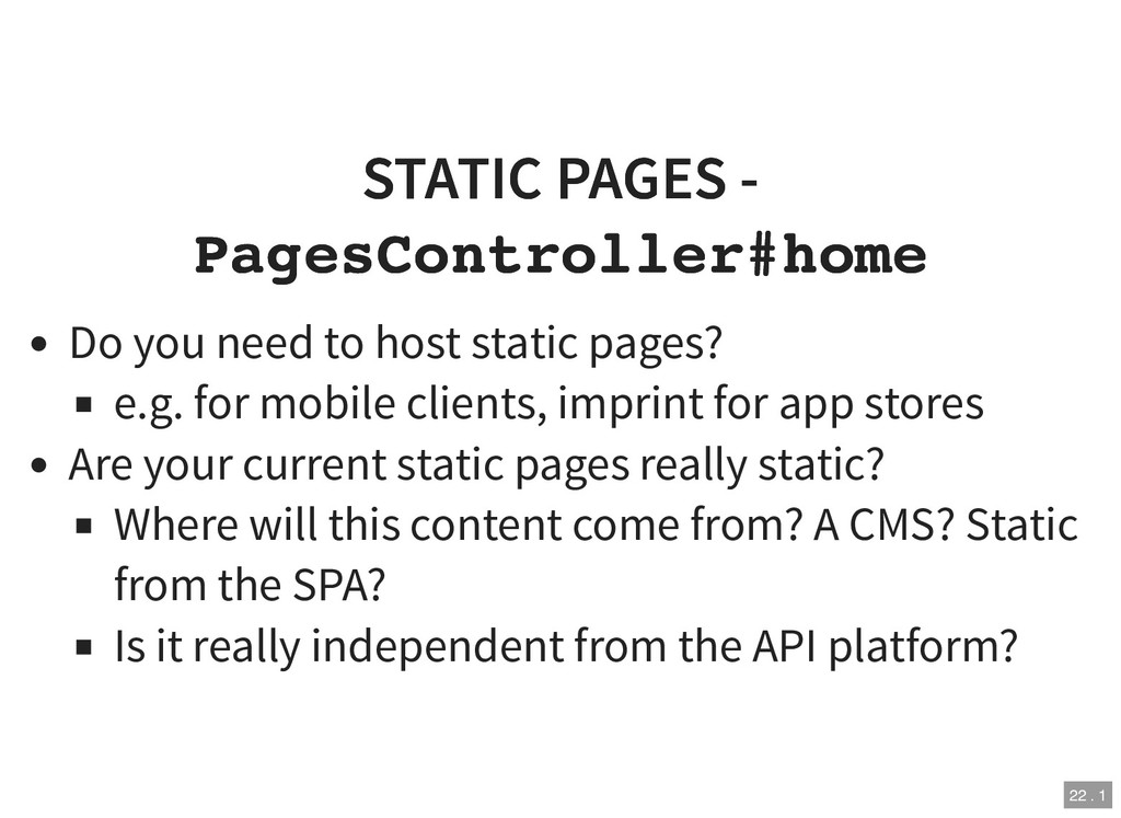 STATIC PAGES - STATIC PAGES - PagesController#h...