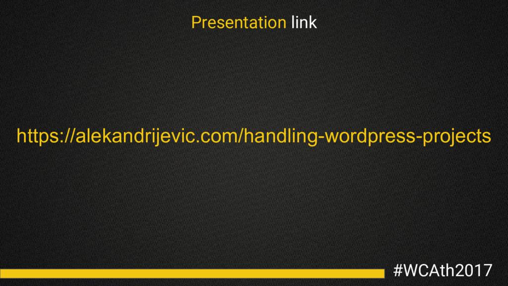 #WCAth2017 Presentation link https://alekandrij...