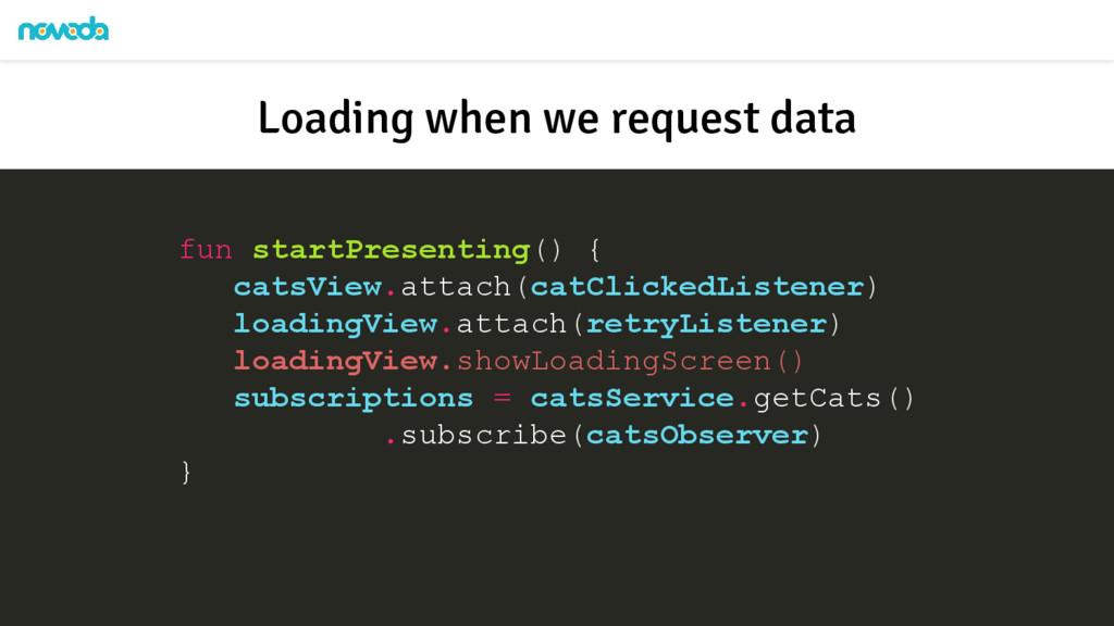 fun startPresenting() { catsView.attach(catClic...