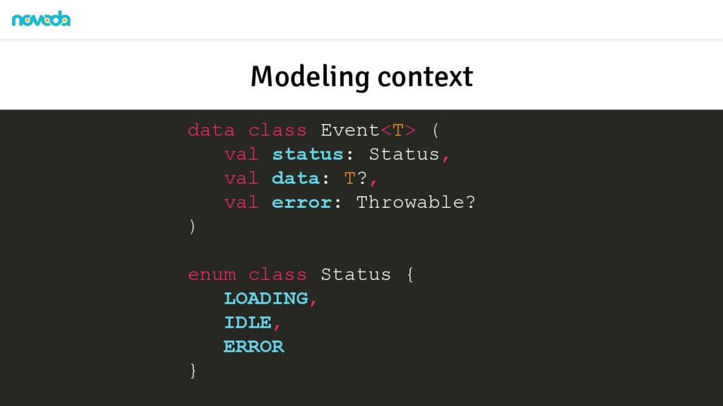 data class Event<T> ( val status: Status, val d...