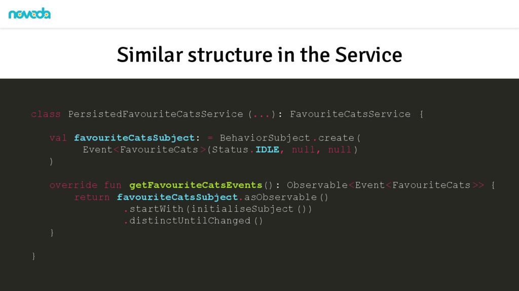class PersistedFavouriteCatsService (...): Favo...
