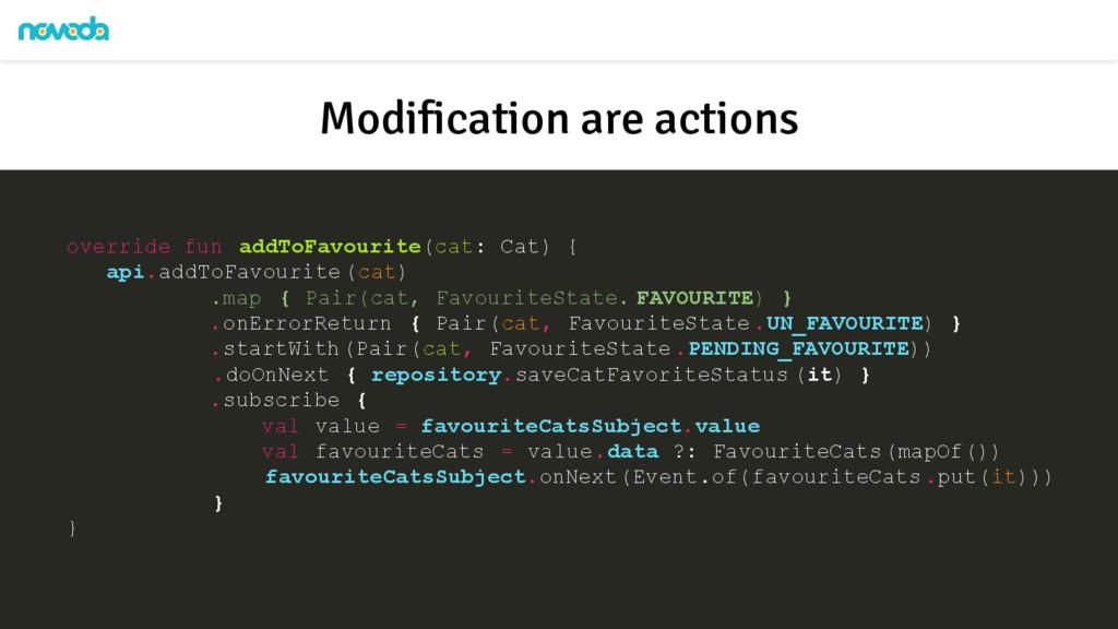 override fun addToFavourite(cat: Cat) { api.add...