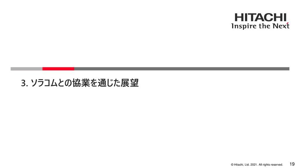 19 © Hitachi, Ltd. 2021. All rights reserved. 3...