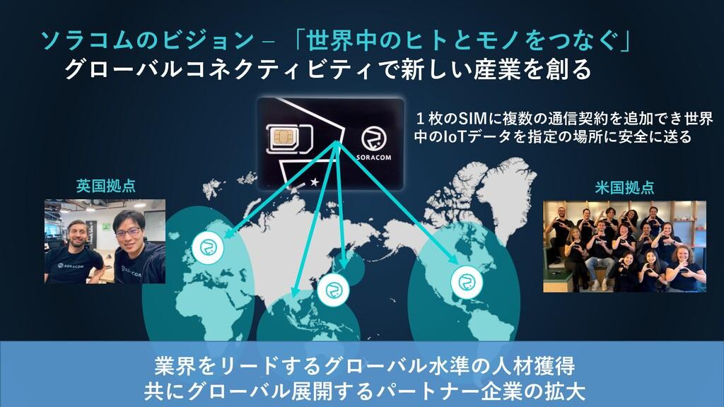 ソラコムのビジョン – 「世界中のヒトとモノをつなぐ」 グローバルコネクティビティで新しい産業...