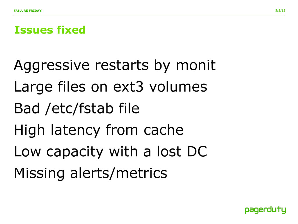 5/5/15 Issues fixed FAILURE FRIDAY! Aggressive ...