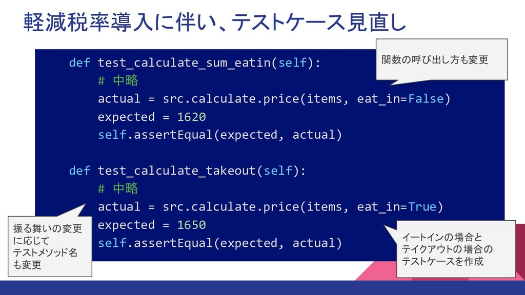 軽減税率導入に伴い、テストケース見直し def test_calculate_sum_eati...