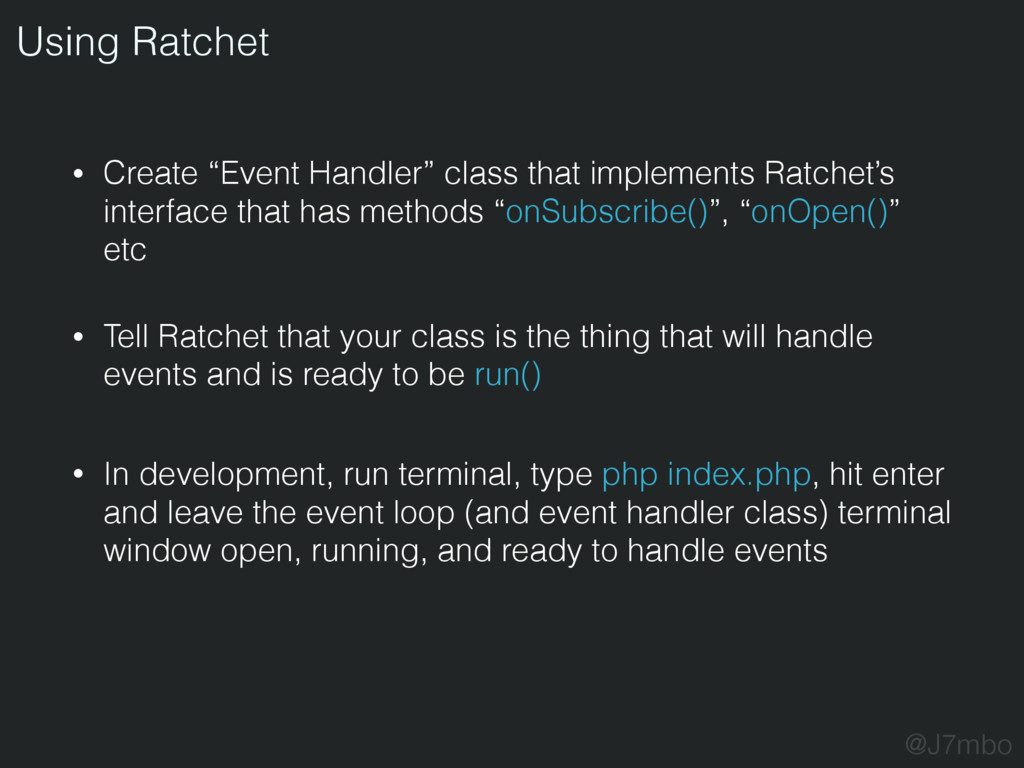 "• Create ""Event Handler"" class that implements ..."
