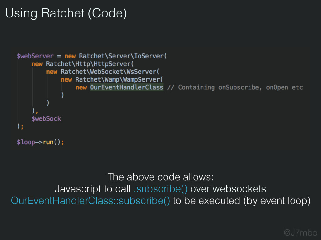 Using Ratchet (Code) @J7mbo The above code allo...