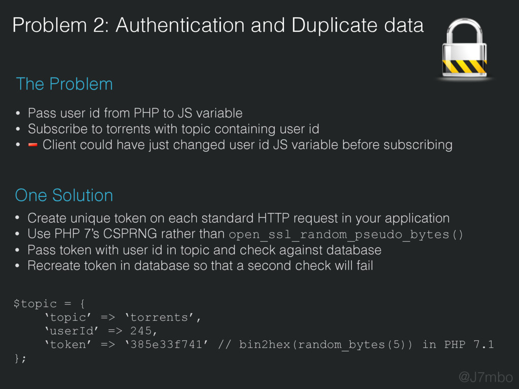 Problem 2: Authentication and Duplicate data Th...