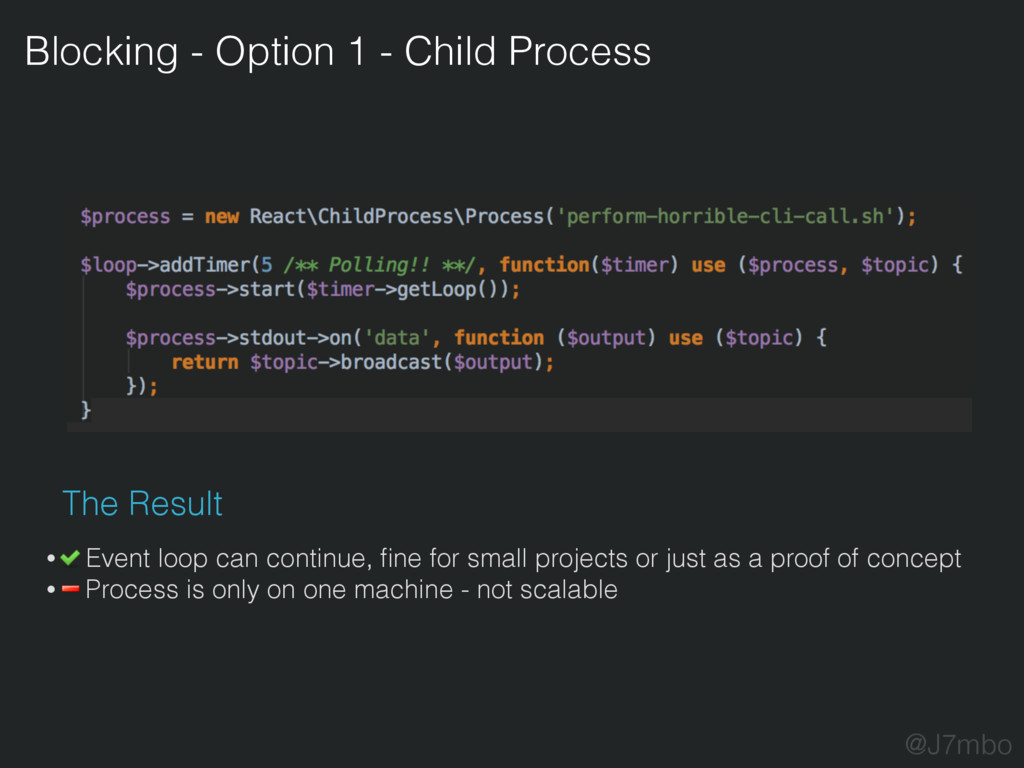 Blocking - Option 1 - Child Process The Result ...