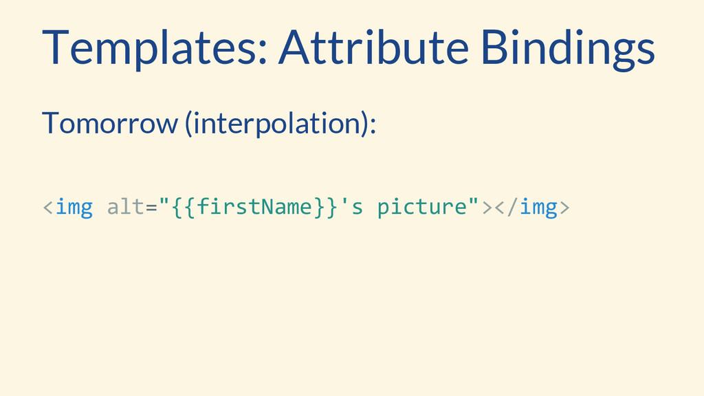 Templates: Attribute Bindings Tomorrow (interpo...
