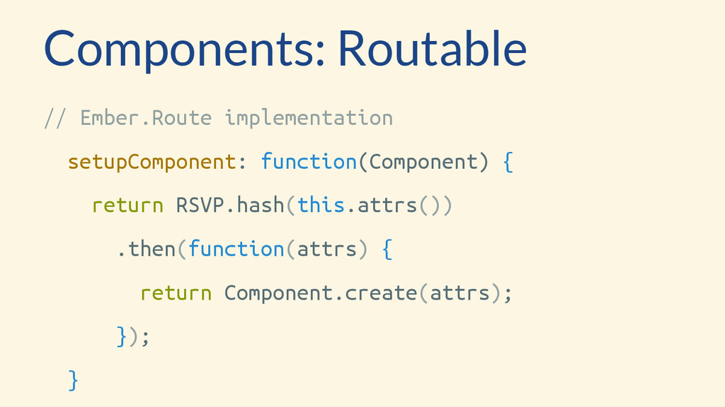 Components: Routable // Ember.Route implementat...