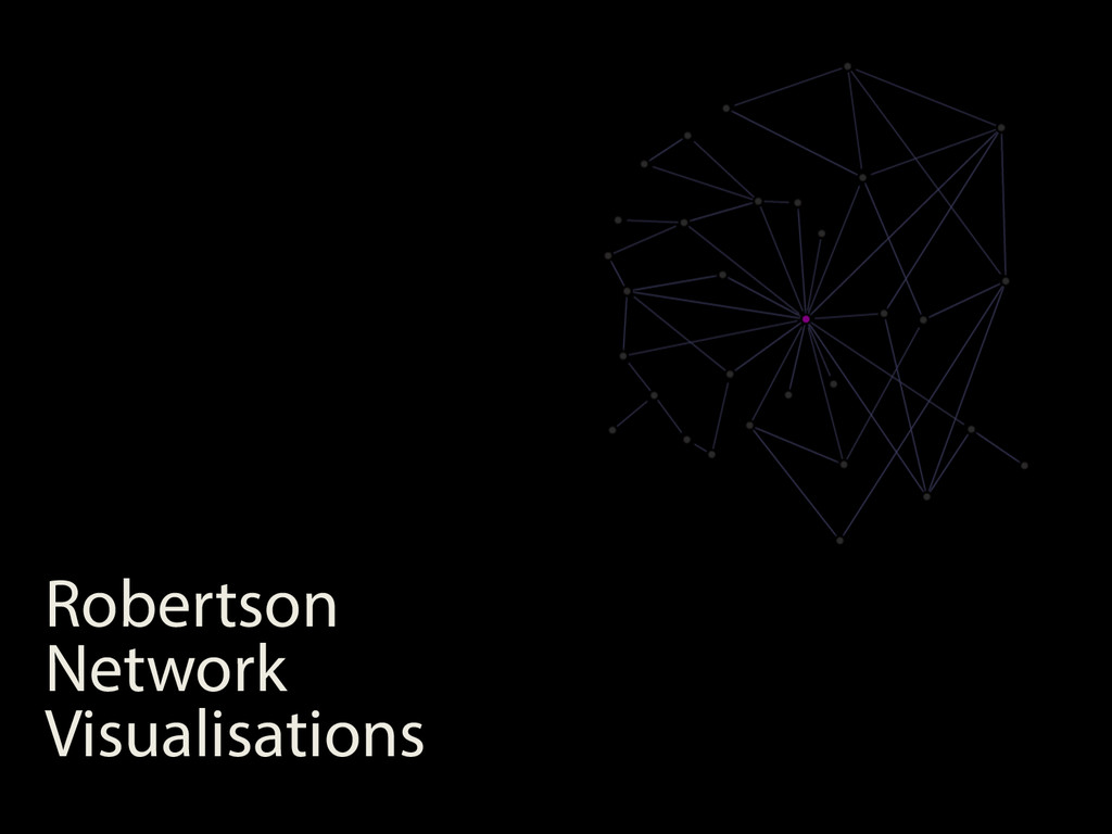 Robertson Network Visualisations