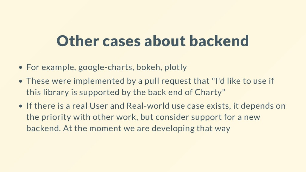 Other cases about backend For example, google-c...