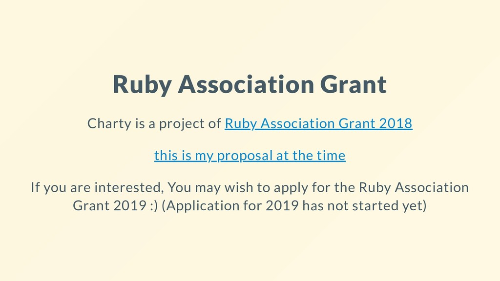 Ruby Association Grant Charty is a project of R...