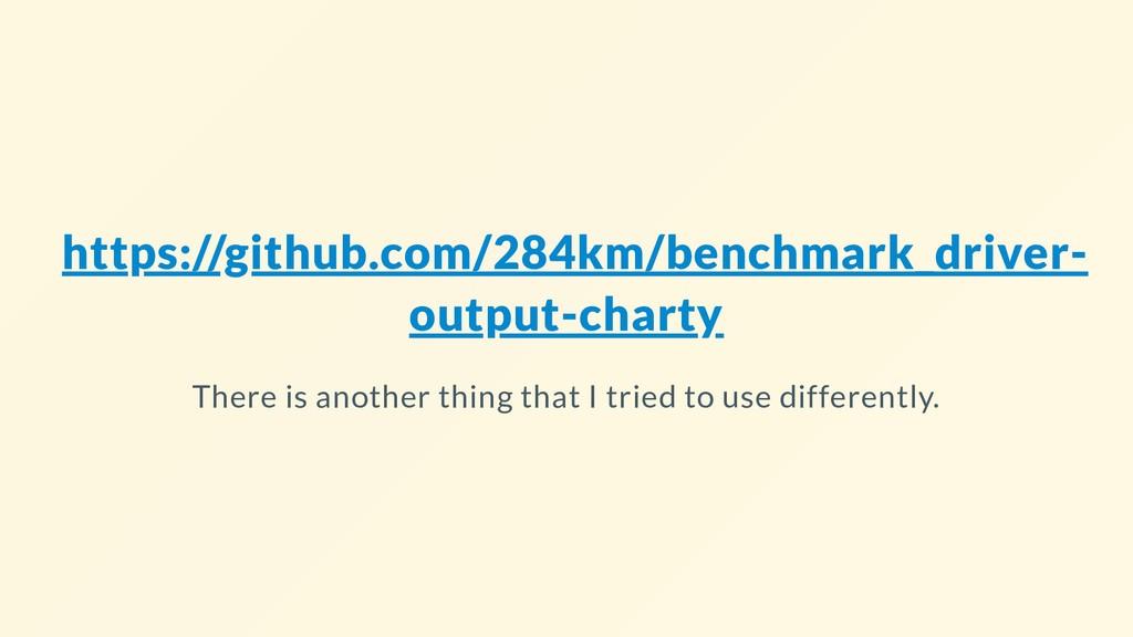 https://github.com/284km/benchmark_driver- outp...