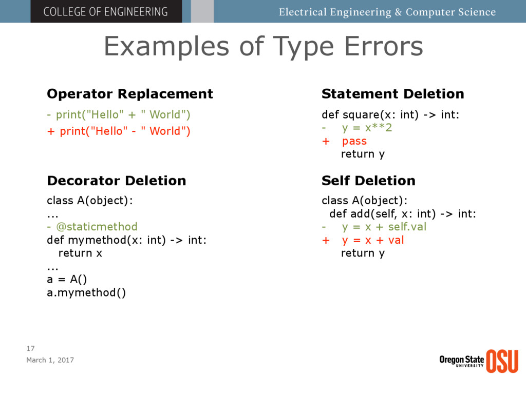 Examples of Type Errors March 1, 2017 17 - prin...