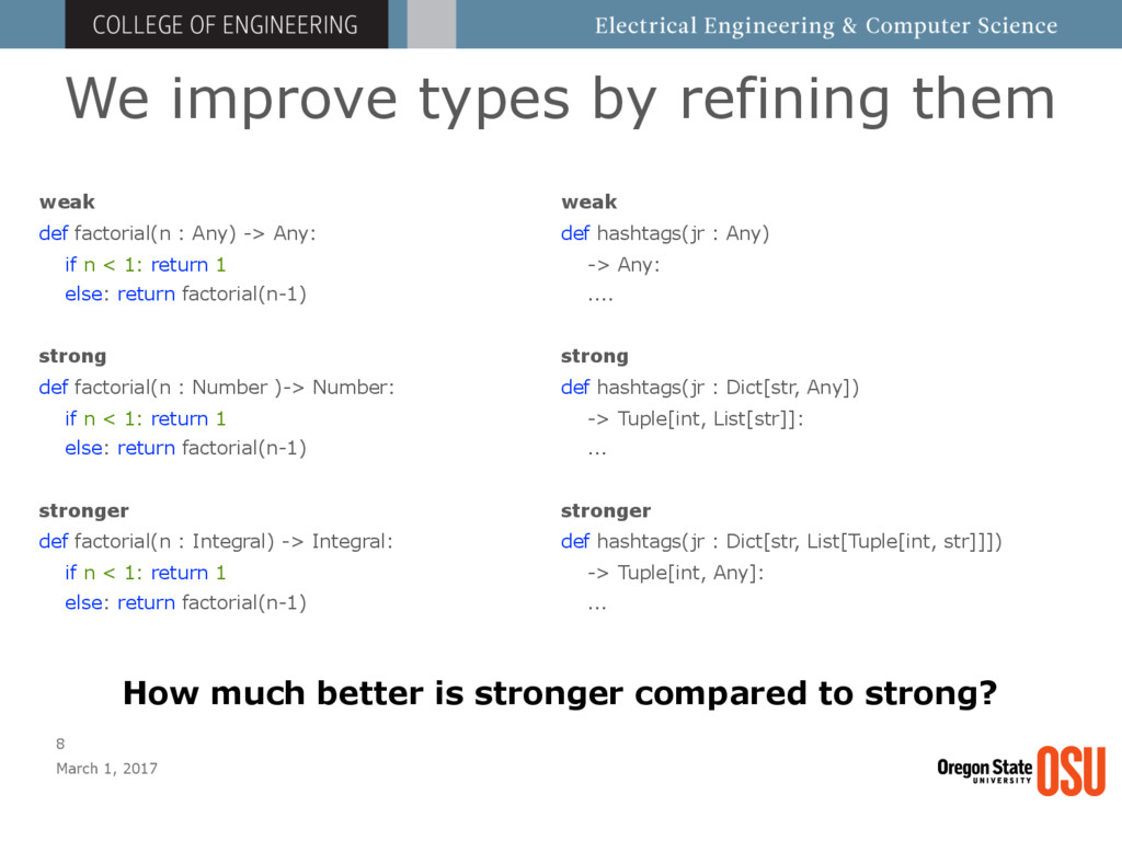 We improve types by refining them March 1, 2017...