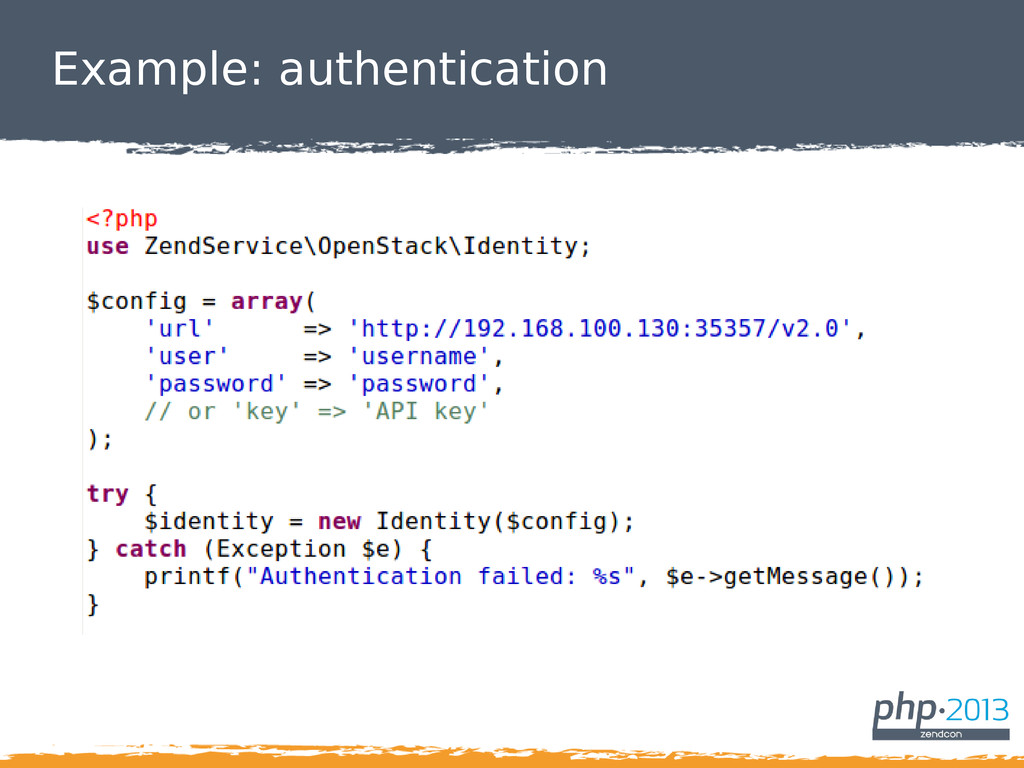 Example: authentication