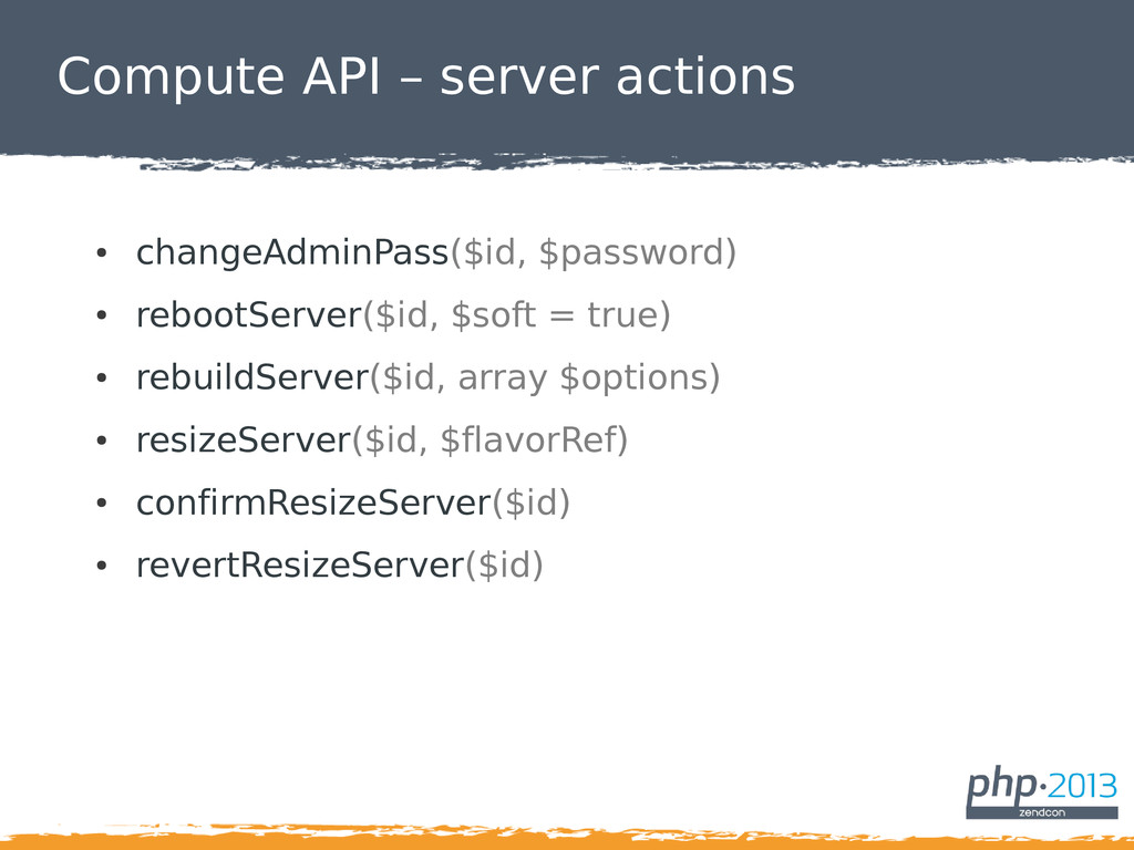 Compute API – server actions ● changeAdminPass(...