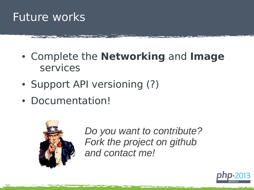 30 Future works ● Complete the Networking and I...