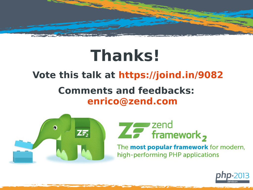 Thanks! Vote this talk at https://joind.in/9082...