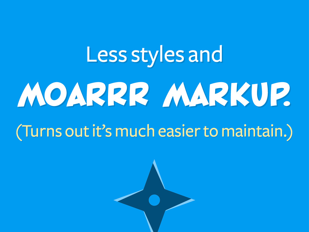 MoarRR markup. (Turns out it's much easier to m...
